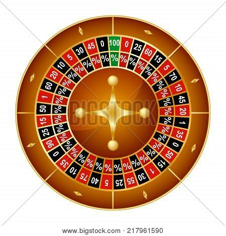 Realistic Detailed Wheel Luck Spinning Lucky Roulette Gambling Game in Casino. Vector illustration of Success Symbol
