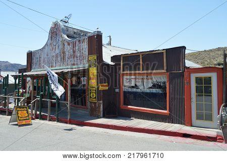 Oatman Gift Shop On Route 66. Route 66 . June 21 2017. Oatman Arizona USA EEUU.