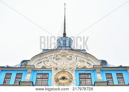 The building of the Nakhimov Naval School in St. Petersburg. Type of naval school in the Russian Federation.