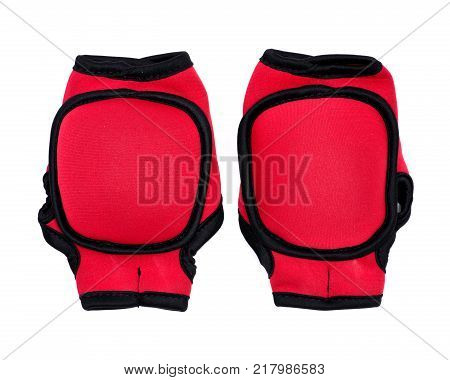One lb weighted gloves with thumb lock design isolated on white background