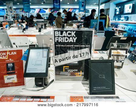 Black Friday Sale Of Electronics At Fnac Store Kobo E-reader