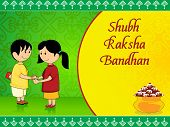 beautiful concept greeting card for rakshabandhan celebration poster