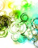 spirals and swirls on a rainbow background poster