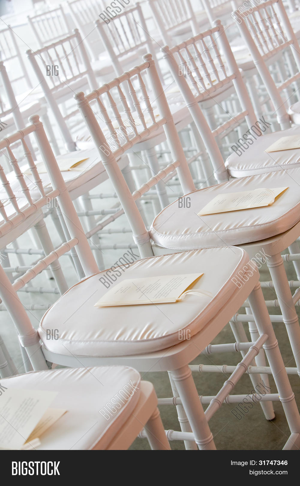 Fancy White Chairs Set Image Photo Free Trial Stock