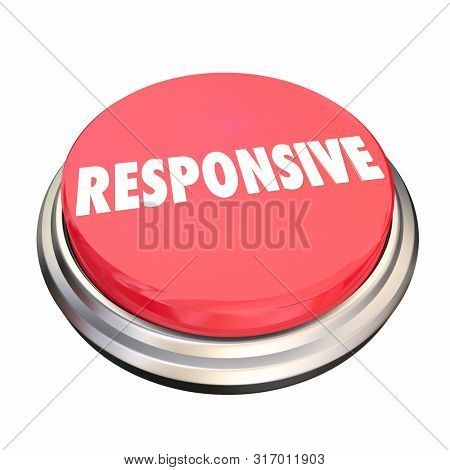 Responsive Feedback Intuitive Button 3d Illustration