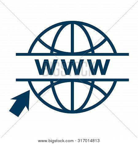 Click To Go To Online Website Or Internet Flat Vector Icon For Apps And Websites. Go To Web Icon In