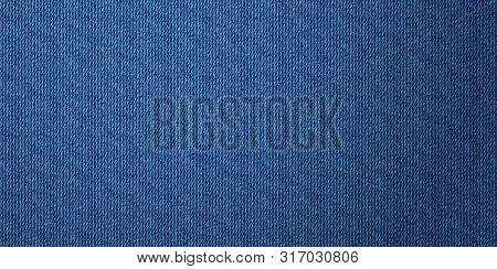 Denim Texture Banner Background. Jeans Apparel Texture.