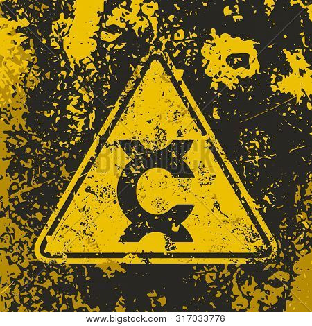 Grunge Poster Carcinogen Warning Sign. Vector Illustration Of Label Warn Of Carcinogenic Compounds C