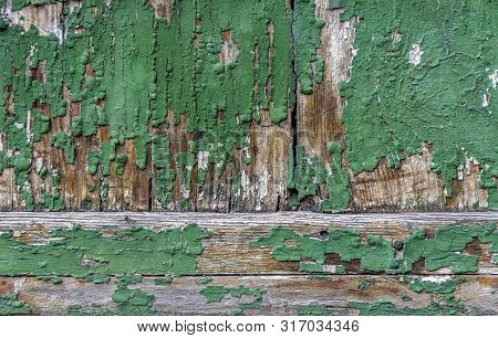 Full Frame Abstract Rundown Wooden Painted Background