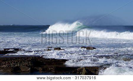 Breakers At Merewether Beach, Newcastle, Nsw, Australia.