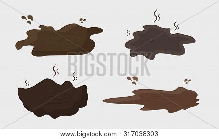 Mud Puddle Splash Clipart . Vector Muddy Water Puddle .