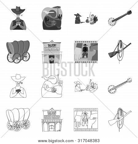 Vector design of texas and history symbol. Collection of texas and culture stock symbol for web. poster