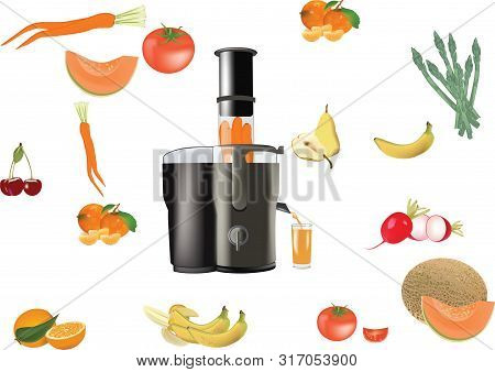 Centrifugal Appliance With All Around Vegetables Centrifugal Appliance With All Around Vegetables