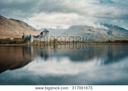 Kilchurn Castle On Loch Awe In Scotland