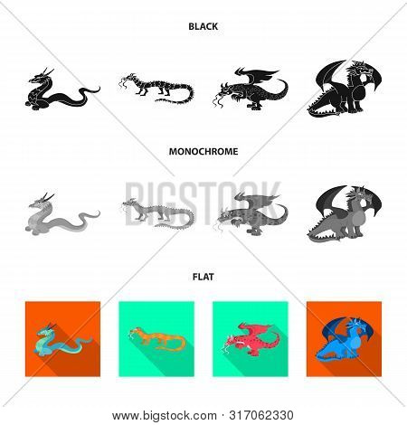 Vector Illustration Of Legend And Halloween Symbol. Set Of Legend And History Stock Vector Illustrat