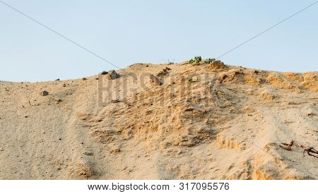Sand Pit. Industrial Sand Quarry. Construction Industry.