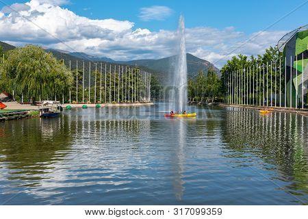 La Seu De Urgell, Catalonia : 2019 August  16 : Circuit Of Kayac In The Rafting Segre Park Of La Seu