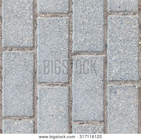 4k Seamless Texture Of Paving Slabs, Outdoor Paving Tiles, 2k High-resolution Concrete Paving Slabs