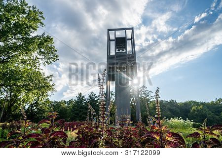 Washington, Dc - August 7, 2019: Netherlands Carillon, A 127-foot Tall Steel Tower In Arlington Ridg