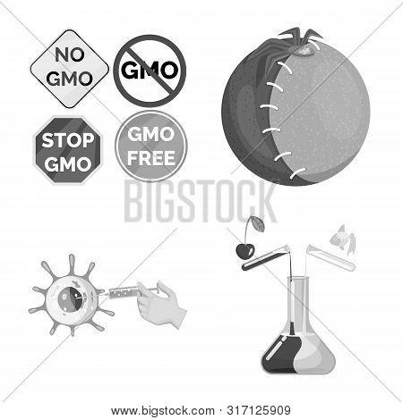 Vector Design Of Transgenic And Organic Icon. Set Of Transgenic And Synthetic Vector Icon For Stock.