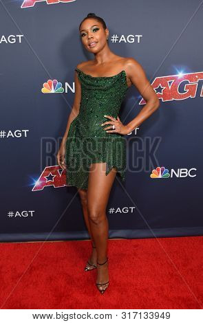 LOS ANGELES - AUG 13:  Gabrielle Union arrives for the America's Got Talent' Season 14 Red Carpet on August 13, 2019 in Hollywood, CA