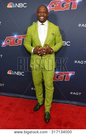 LOS ANGELES - AUG 13:  Terry Crews arrives for the America's Got Talent' Season 14 Red Carpet on August 13, 2019 in Hollywood, CA