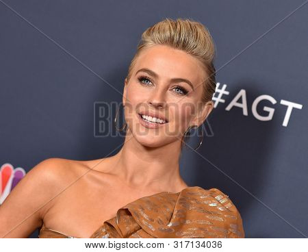 LOS ANGELES - AUG 13:  Julianne Hough arrives for the America's Got Talent' Season 14 Red Carpet on August 13, 2019 in Hollywood, CA