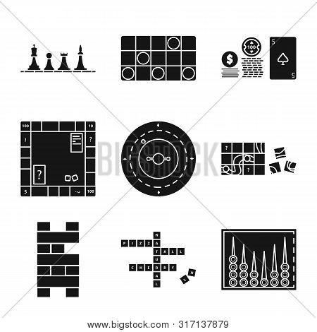 Vector Design Of Leisure And Rivalry Icon. Collection Of Leisure And Concept Stock Vector Illustrati