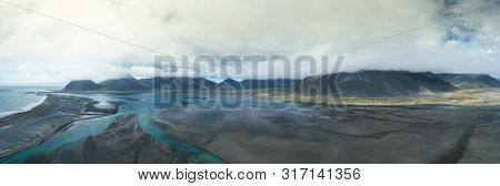 Aerial View Of Amazing Iceland Landscapes