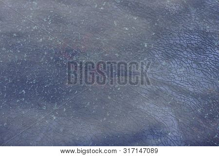 Light Gray  Glassy Texture Of Broken Glass With Cracks