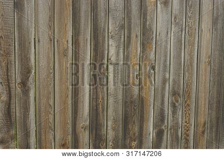 Gray Brown Wood Background Of Boards On The Wall
