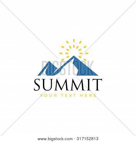 Summit Logo Design Template Vector Isolated Illustration