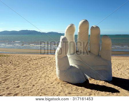 Townsville, Queensland/australia-july 29, 2019:  An Art Display Called