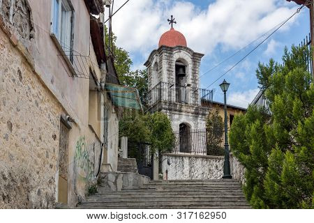 Xanthi, Greece - September 23, 2017: Church Of The Akathist Hymn In Old Town Of Xanthi, East Macedon