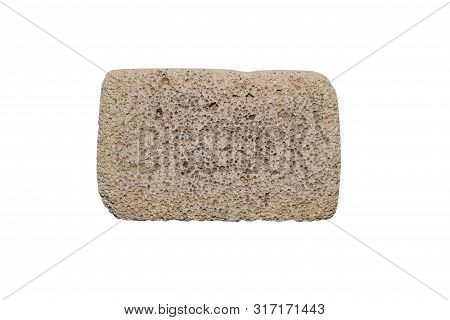 Foot Pumice Isolated On White Background.pumice Textured For Heels.