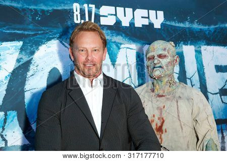 LOS ANGELES - AUG 12: Ian Ziering, Water Zombie at the Premiere Of SyFy's