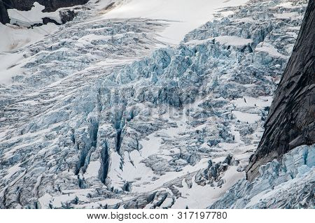 Dangerous Aspect Of Glacier Hiking In Bugaboos Provincial Park In Bc, Canada