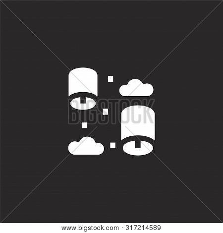 Paper Lantern Icon. Paper Lantern Icon Vector Flat Illustration For Graphic And Web Design Isolated