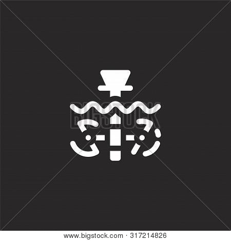 Tidal Power Icon. Tidal Power Icon Vector Flat Illustration For Graphic And Web Design Isolated On B