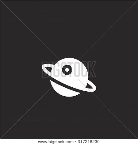 Orbit Icon. Orbit Icon Vector Flat Illustration For Graphic And Web Design Isolated On Black Backgro