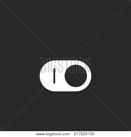 Switch Icon. Switch Icon Vector Flat Illustration For Graphic And Web Design Isolated On Black Backg
