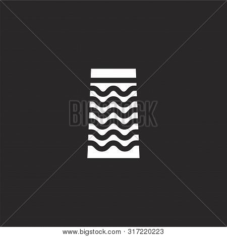 Skirt Icon. Skirt Icon Vector Flat Illustration For Graphic And Web Design Isolated On Black Backgro