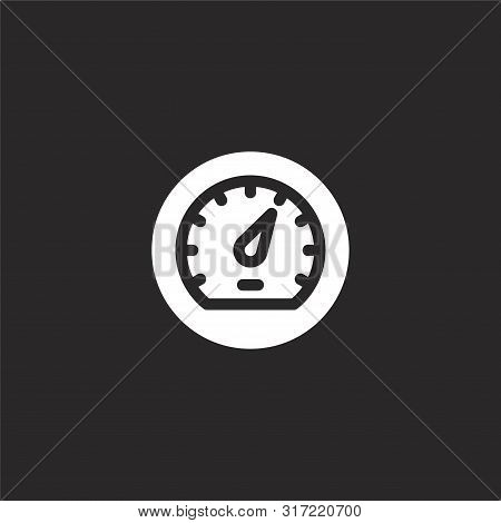 Speedometers Icon. Speedometers Icon Vector Flat Illustration For Graphic And Web Design Isolated On