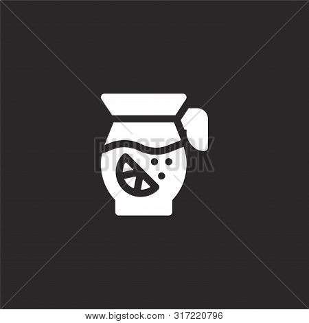 Sangria Icon. Sangria Icon Vector Flat Illustration For Graphic And Web Design Isolated On Black Bac