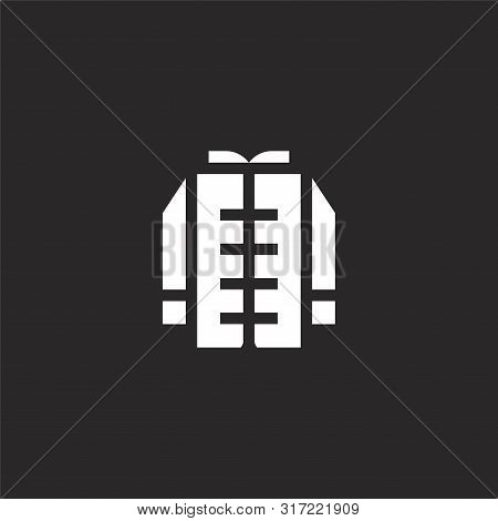 Karate Icon. Karate Icon Vector Flat Illustration For Graphic And Web Design Isolated On Black Backg