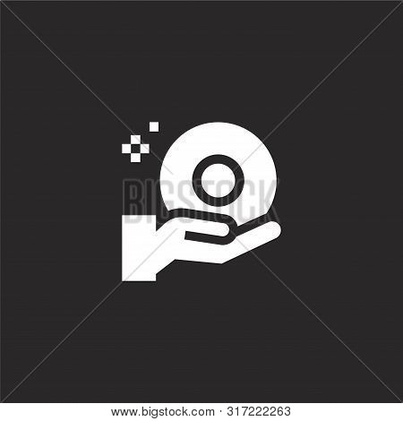 Washing Dishes Icon. Washing Dishes Icon Vector Flat Illustration For Graphic And Web Design Isolate
