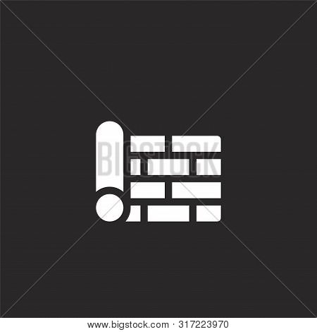 Wallpaper Icon. Wallpaper Icon Vector Flat Illustration For Graphic And Web Design Isolated On Black