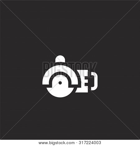 Angle Grinder Icon. Angle Grinder Icon Vector Flat Illustration For Graphic And Web Design Isolated
