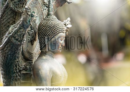 Close-up Of A Buddha Statue, It Is Revered Buddhist