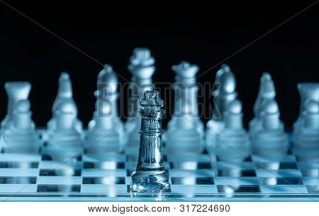 The Concept Of Business Competition: Close-up Pieces Off A Military Confrontation With Rivals Alone